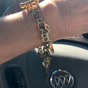 Burberry 18kt Gold Plated Charm Bracelet/Watch❤️❤️